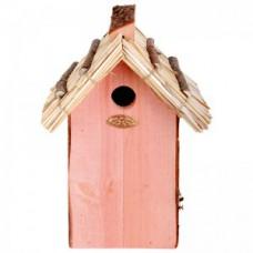 Vogelhuis voor Koolmeesje met rieten dak