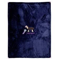 Deken van fleece -Funny Horses- 130 x 165 cm