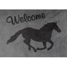 Deurmat met paardenmotief, 70 x 50 cm