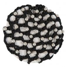 Haarnet met synthtischen perlen