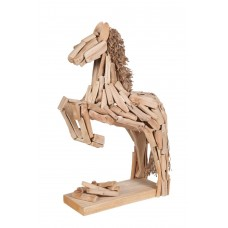 Statue paard in sprong 30 x 18 x 9 cm