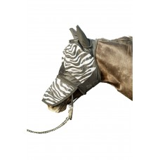 Vliegenmasker -Zebra- met neusnetje