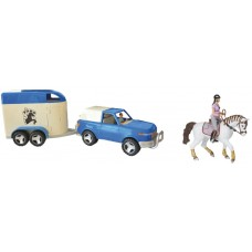 4x4 Off-road auto & paardentrailer + 2 Figuurtjes kadobox
