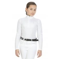 "EQUITHÈME ""Mesh"" polo shirt, lange mouwen Dames"