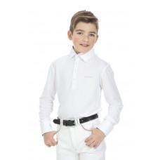 """EQUITHÈME """"Mesh"""" polo shirt, lange mouwen Kinder"""