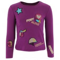"""EQUI-KIDS""""Ponylove"""" T-shirt met badges-meisjes"""