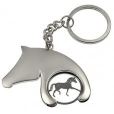 Paardehoofd sleutelhanger/muntje