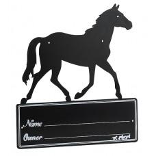 """""""Paarden silhouet"""" naambordje voor op de box"""