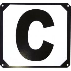 Set van 12 manege letters op metalen steun