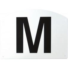 Set van 12 manege letters op plastic steun